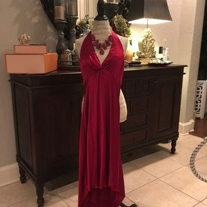 Like NEW ! Cranberry High/Low Halter top dress